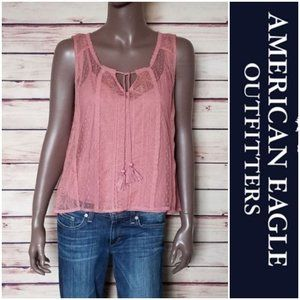 AEO Lace Tank in Pink